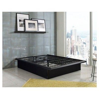 Eco Dream California King Metal Platform Decorator 14 Bed Frame, Black