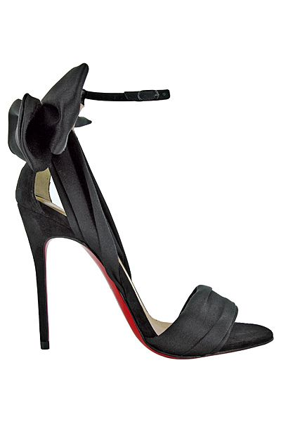 Christian Louboutin ~ Leather High Heel Sandal, Black