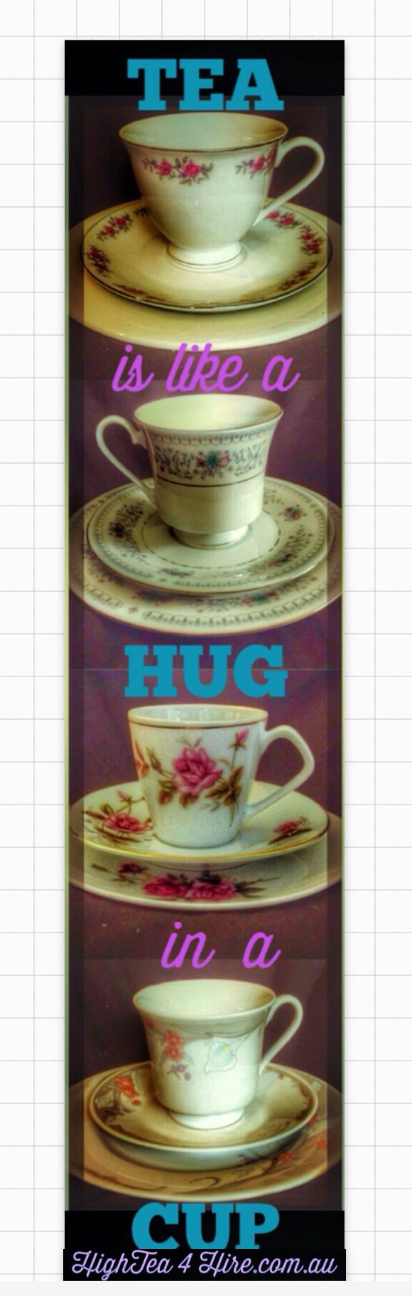 Maybe this is why I drink more tea when I miss my family.  Drink tea.  HighTea4Hire.com.au