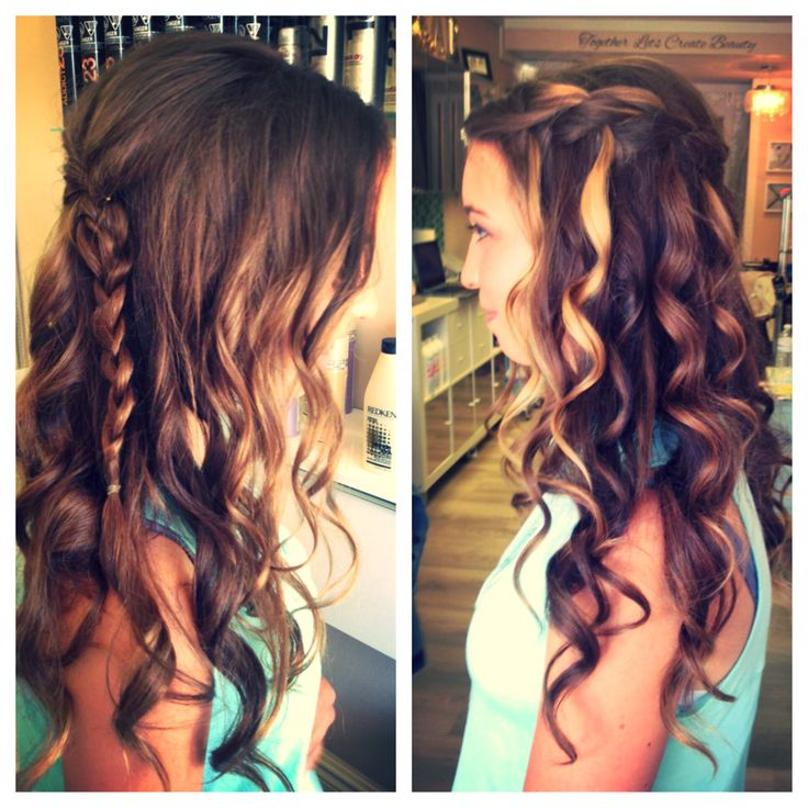 Updo for Prom #bbbeauty #bbbteam #glam #waterfall #braid www.brittanybuckhair.com