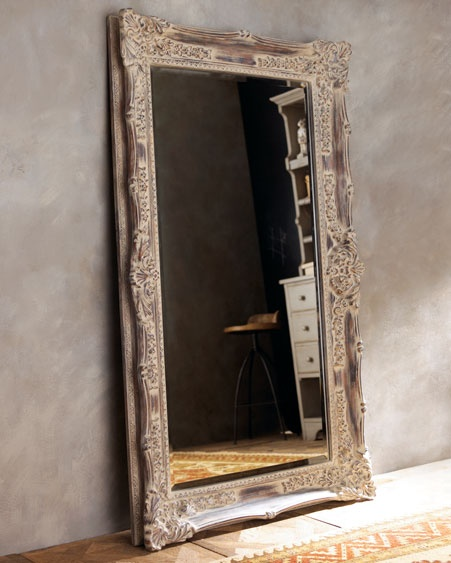 So in love with oversized free-standing mirrors!