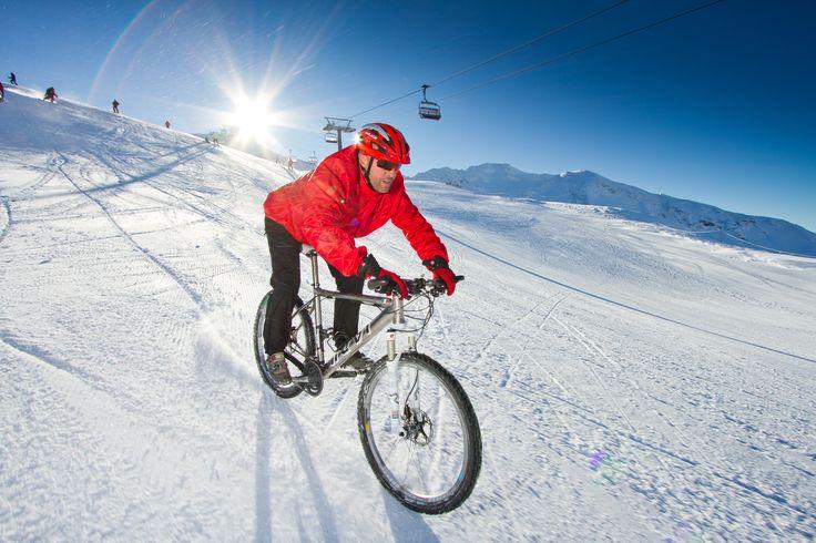 bike on the snow.