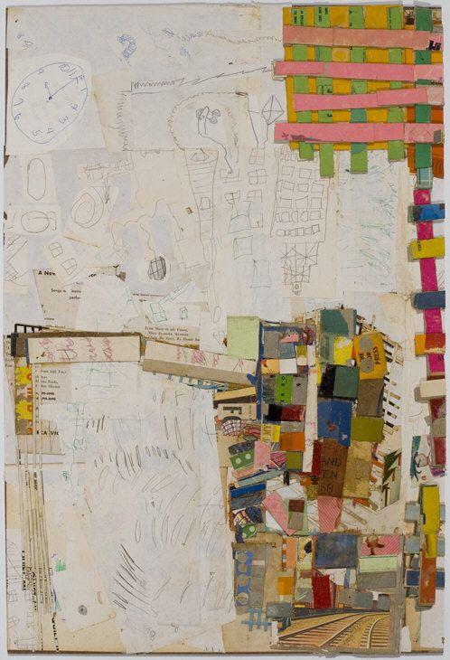 Nervous System , 2008,                                                  Collage on masonite, 27.3 x 17.8 , Lab #3 , 2008,                ...