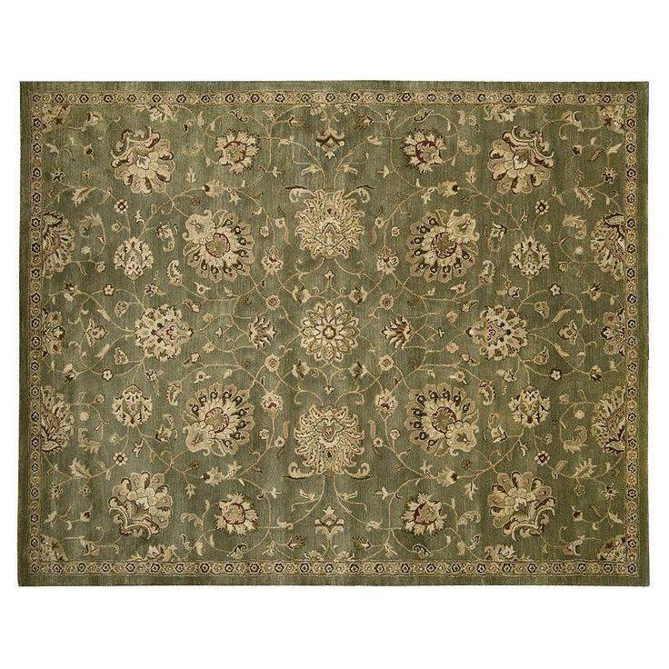 Nourison Jaipur Traditional Framed Floral Wool Rug, Green