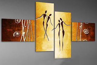 Cuadros Abstractos Arbol De La Vida  Etnicos Pinturas Flores - $ 1.200,00