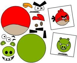 Angry Birds Pictures to Print | To Make (for you to prep beforehand) :