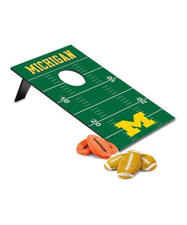 Loving this Michigan Wolverines Football Beanbag Throw Game on #zulily! #zulilyfinds