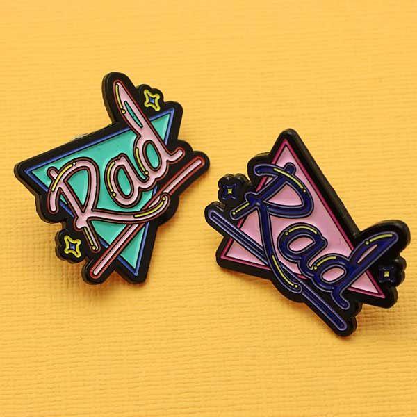 'Rad' Enamel Pin