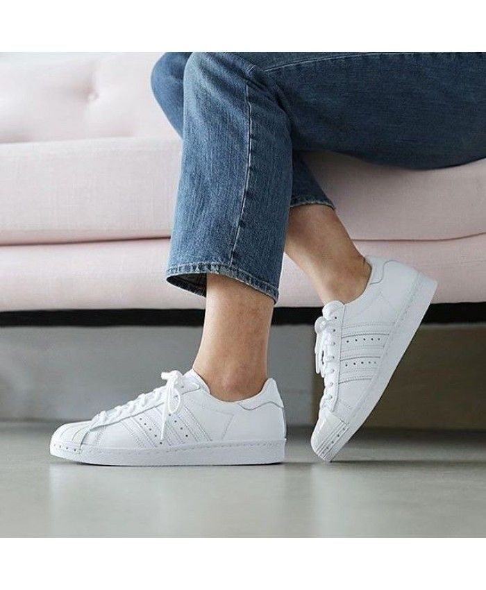 adidas womens white superstar sneakers
