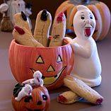 Fingre - Opskrifter  http://www.dansukker.dk/dk/opskrifter/fingre.aspx #fingre #opskrift #inspiration #halloween #dansukker #uhyggeligt #sjovt
