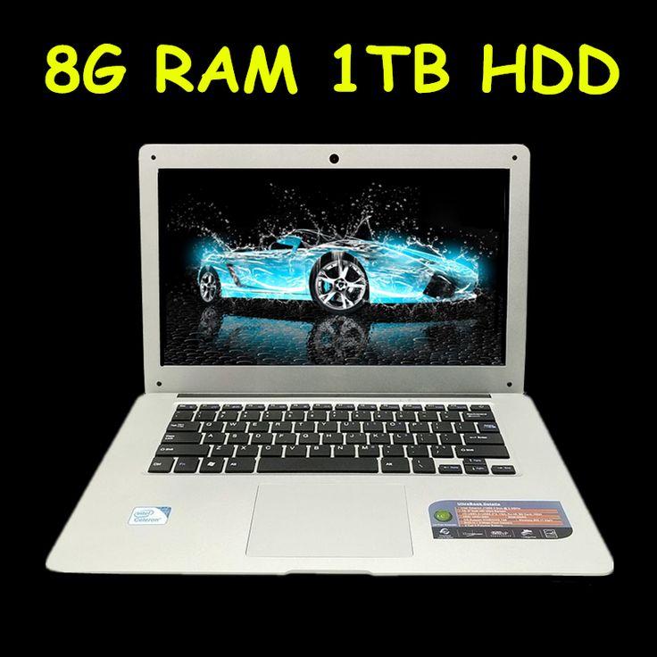 1920x1080 p fhd pantalla 8 gb ram 1 tb hdd windows7/8/10 ultrafino quad core correr rápido laptop netbook del ordenador portátil