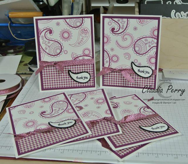 Stamping in Columbus, GA, Stampin' Up!, One Sheet Wonder, Paisleys and Posies