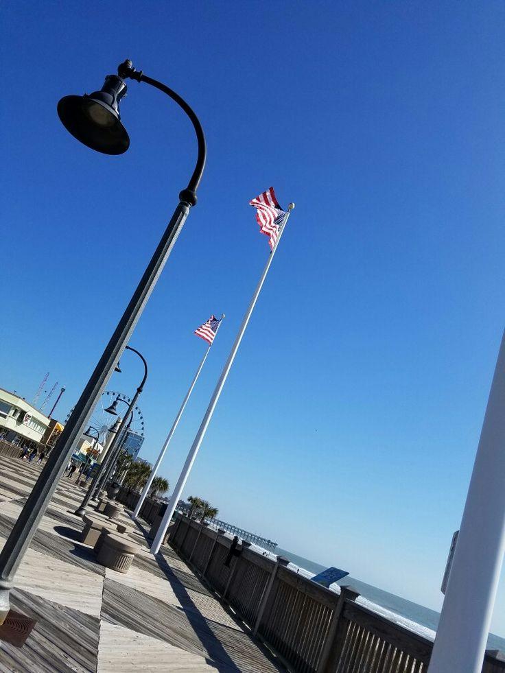 Hello Lamp Post Myrtle Beach Boardwalk