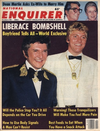 Scott Thorson And Liberace...I am sure my mama went to her grave having no clue as to the true eccentricity  of one of her favorite pianists.