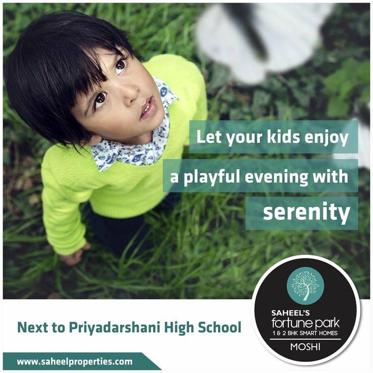 Let your kids enjoy a playful evening with serenity.  For project details contact us on - +91 9511951142 | www.fortunepark.in  Site Add: Gat No.195 , Next to Priyadarshani School, Dehu - Alandi Road, Borhadewadi, Moshi, Pune #BRTRoadTouch #PrimeLocation #SaheelsFortunePark #Moshi