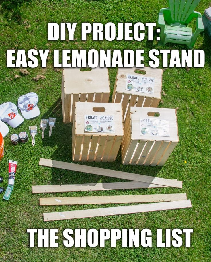 How to make a lemonade stand, DIY projects