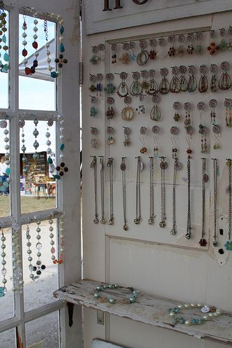 jewelry booth display: Booths Display, Jewelry Display, Booths Ideas, Craft Booths, Crafts Booths, Display Ideas, Old Doors, Booths Setup, Vintage Doors