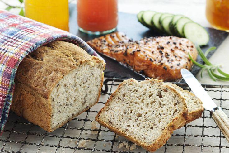 Her får du oppskriften på et saftig og velsmakende, glutenfritt brød.