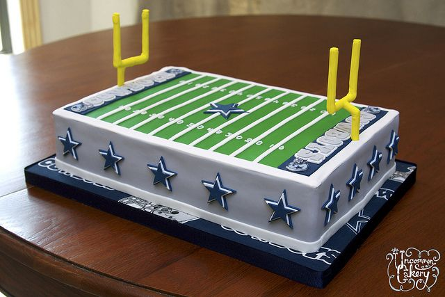 Dallas Cowboys Field Cake---would this be too much? haha!