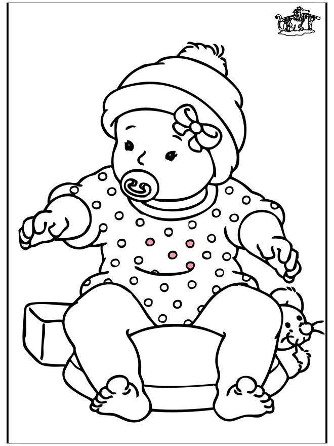 Kleurplaten Meisjes Baby Archidev