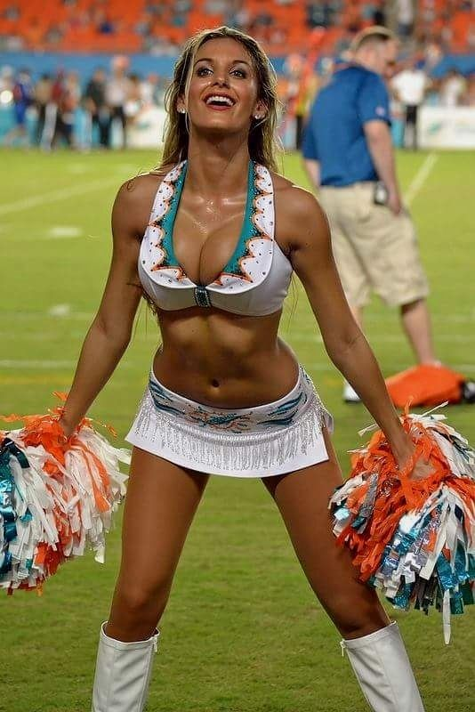Topless large breasted cheerleaders 11
