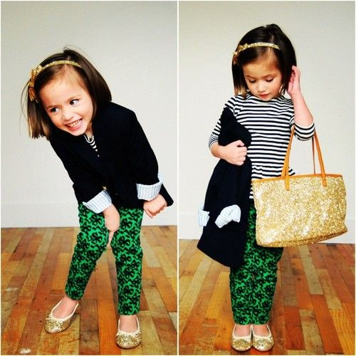 1. We have the same headband 2. She dresses better than I ever will 3. She has the pants I want from J. Crew. Sigh.