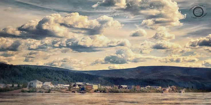 Dawson City as seen from ferry