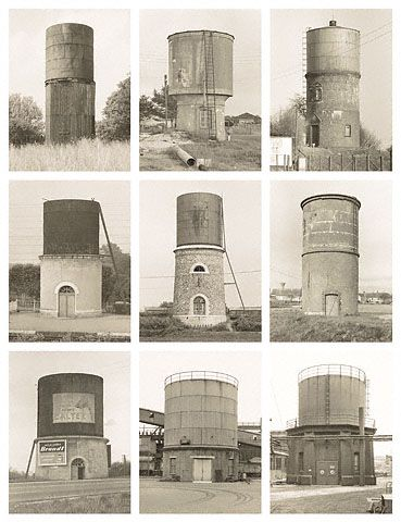 BERND & HILLA BECHER: WATER TOWERS