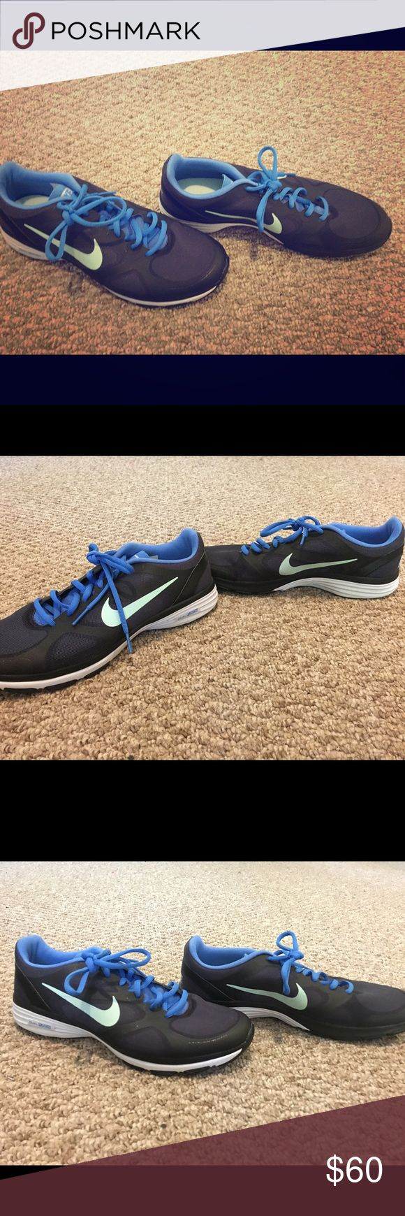 Nike Dual Fusion TR Women's Training Shoes Nike Dual Fusion TR Women's Training Shoes 443837 012 Black/Blue - US 9.5 Nike Shoes Sneakers