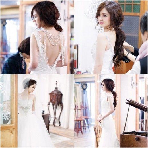 Jang Nara Looks Radiant in a Wedding Dress - Soompi