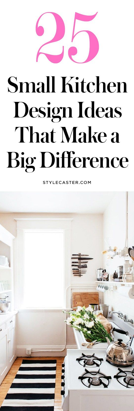 25 Small Kitchen Design Ideas | Storage solution and decor tricks to maximize your space | @stylecaster