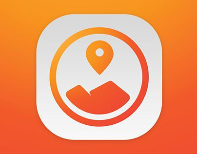 Alternative app icon for the app Topout #app #icon #mountain #pin #location #topout #climbing