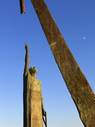 Statue of Pythagoras (Greek Philosopher and Mathematician), Pythagorion, Samos, Greece
