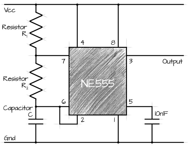 555  ne555  astable circuit calculator