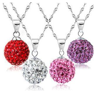brand necklace 10mm imitation diamond Micro Disco Ball Crystal Necklace B0226
