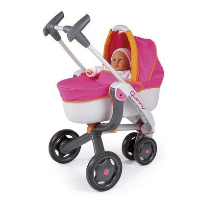 La poussette pour poupées Quinny + la poussette sport à 3 roues de SMOBY