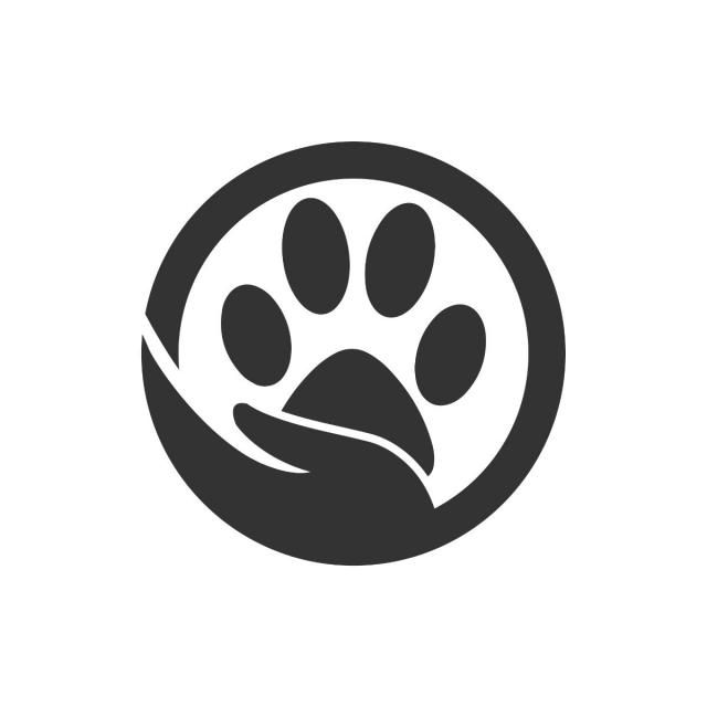 Paw Silhouette In Circle Shape And Hand Line Silhouette Paw Png
