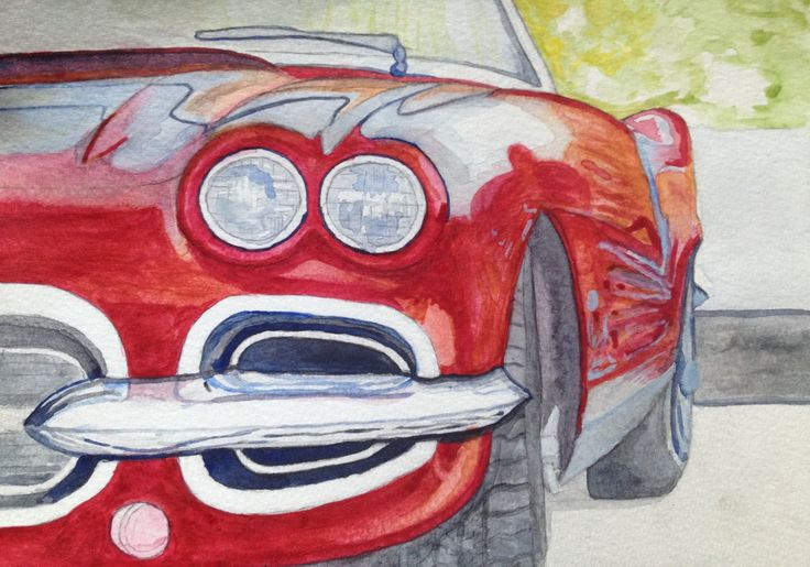 Learning Water Colours Car. Image 2