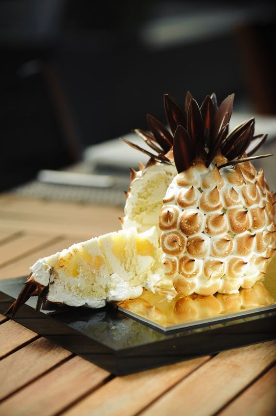 Say Yes to Pineapple Meringue Cake ~~ Houston Foodlovers Book Club
