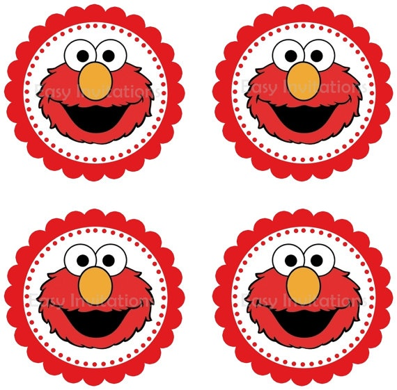 17 best images about peyton 1st on pinterest sesame for Printable elmo cake template