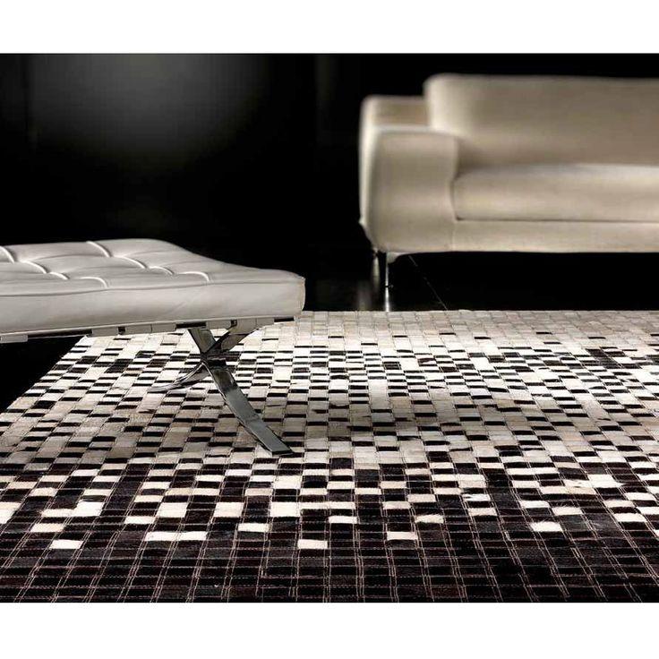 Черно-белый ковер 'Пазл' Puzzle White-Black #carpet #carpets #rugs #rug #interior #designer #ковер #ковры #коврыизшкур #шкуры #дизайн  #marqis