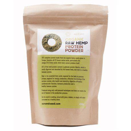 Proteinový prášek z konopného semínka - Bio, raw