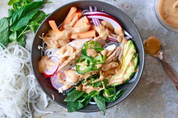 Whole30 Spring Roll Bowl   The Defined Dish
