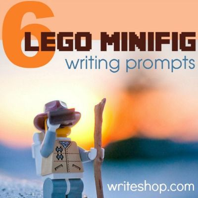 6 LEGO minifig photo writing prompts