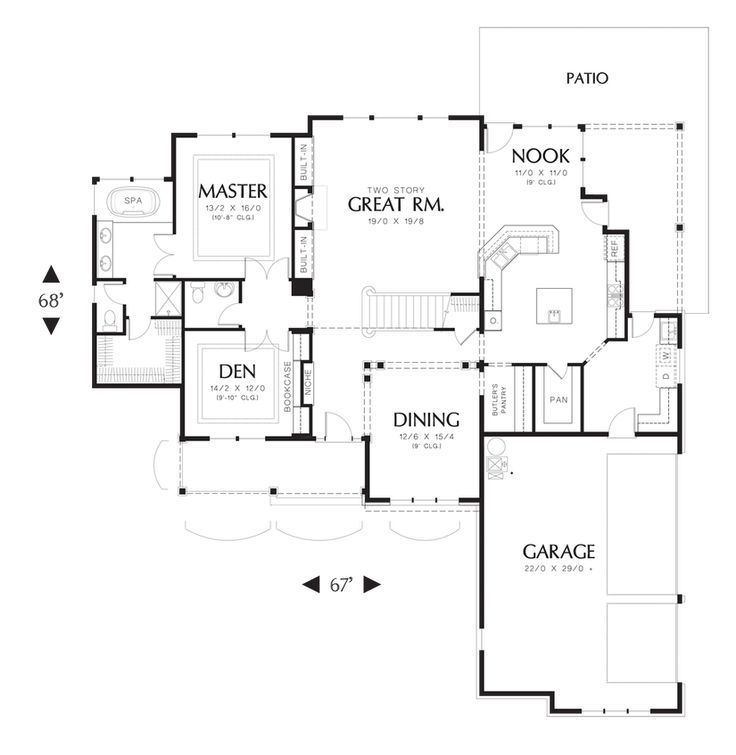 Mascord house plan 22108 house plans chang 39 e 3 and floors House plans mascord