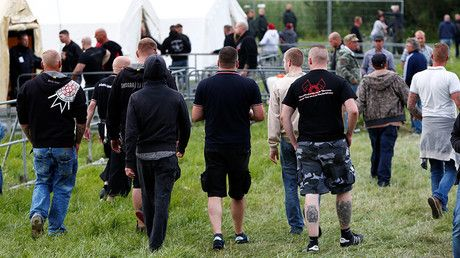 "Thousands flock to 'largest' neo-Nazi rock festival in Germany, outnumber host city's population https://tmbw.news/thousands-flock-to-largest-neo-nazi-rock-festival-in-germany-outnumber-host-citys-population  The tiny German town of Themar saw 6,000 people flock to what is said to be the country's largest neo-Nazi rock festival: ""Rock against Foreign Domination."" The far-right concertgoers vastly outnumbered the town's population of 3,000 people.The event, 'Rock gegen Ueberfremdung' (Rock…"