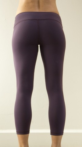 WOD Gear Clothing - Eggplant Womens Crop Pants - Purple Logo, $65.00 (http: