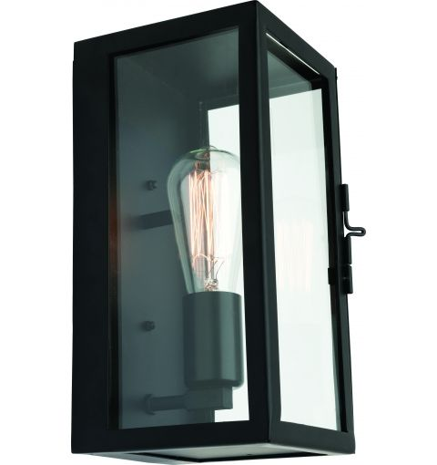 Manchester Exterior Wall Up Light (E27), Black
