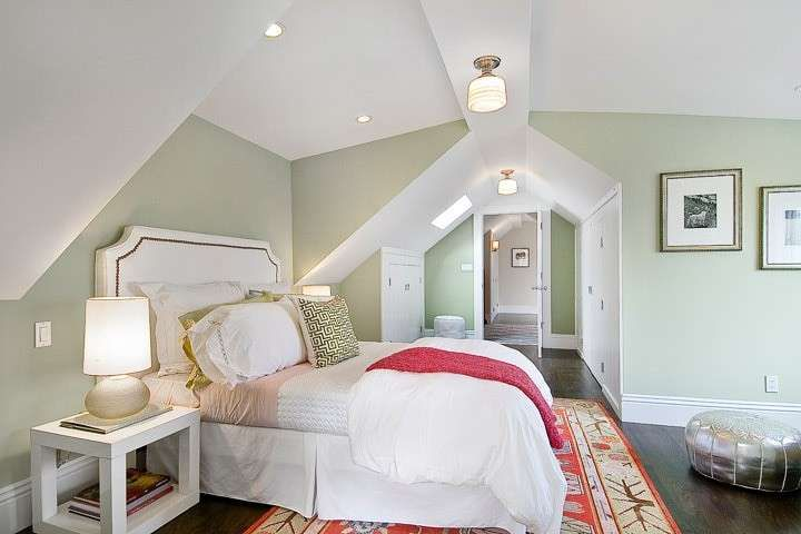 Arredare con i colori pastello - Pareti verde chiaro in camera