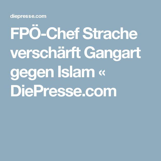 FPÖ-Chef Strache verschärft Gangart gegen Islam « DiePresse.com
